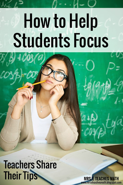 How to Help Students Focus - teachers share their tips