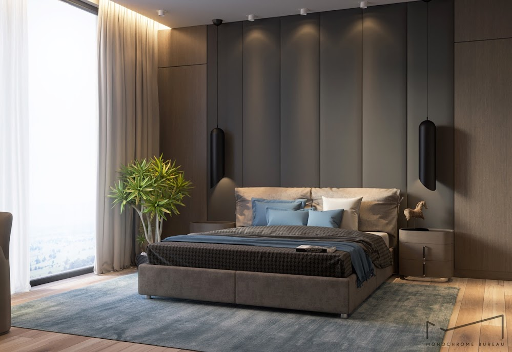 grey-elongated-panel-beautiful-bedroom-accent-wall-colors