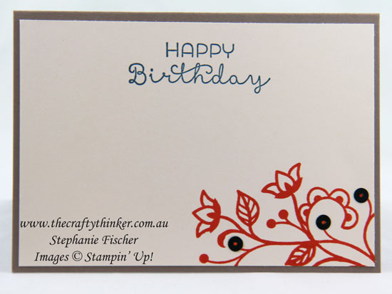 Flourishing Phrases bundle, #crazycraftersbloghop, #thecraftythinker, Stampin Up Australia Demonstrator, Stephanie Fischer, Sydney NSW