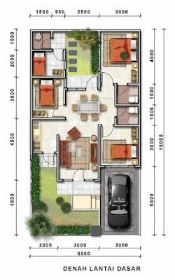 Denah lantai dan atap rumah modern minimalis 2019 images | desain rumah minimalis, rumah sederhana, desain gambar rumah, rumah tekkini | Desain Rumah Minimalismu