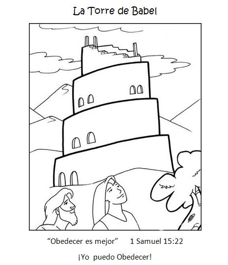 Dibujos Biblicos Para Colorear De La Torre De Babel Imagui