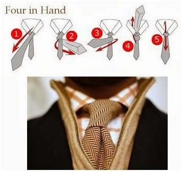 How to knot a four-in-hand tie