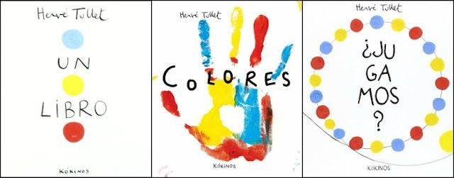 cuentos hervé tullet portadas: un libro, colores, jugamos