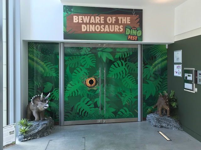 The entrance to the Dinosaur Encounter exhibition