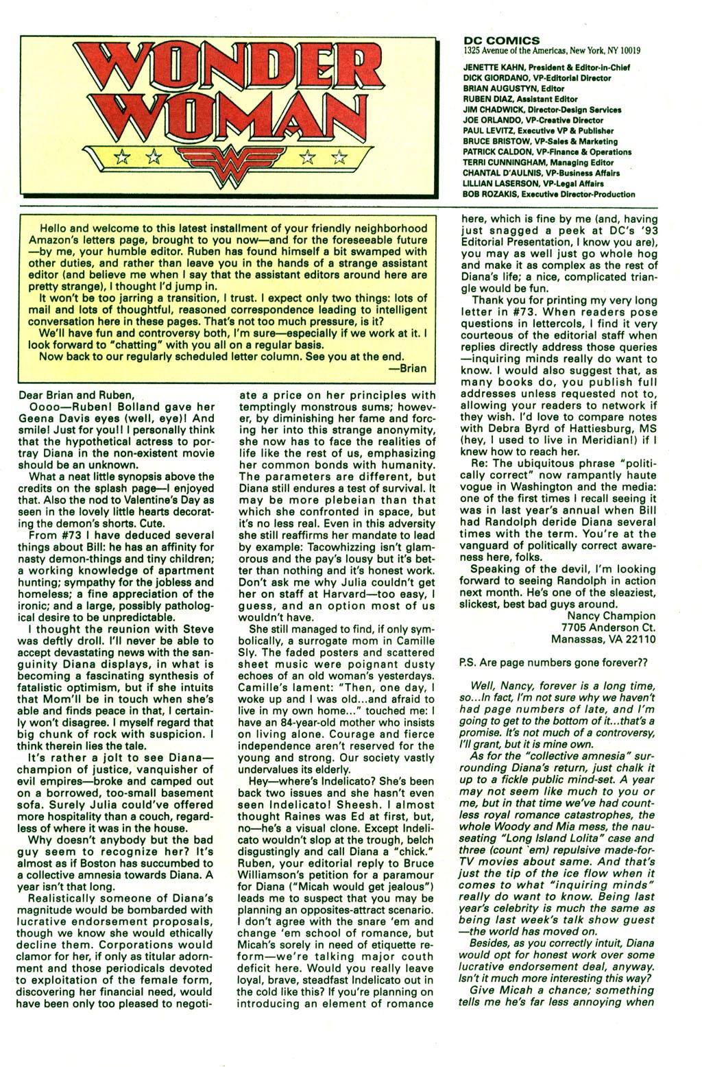 Read online Wonder Woman (1987) comic -  Issue #77 - 24