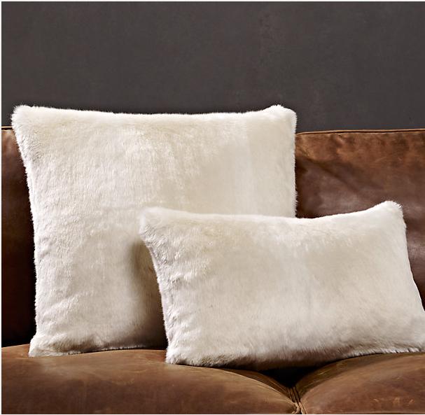 Restoration Hardware Luxe Faux Fur Pillow   Decor Look Alikes