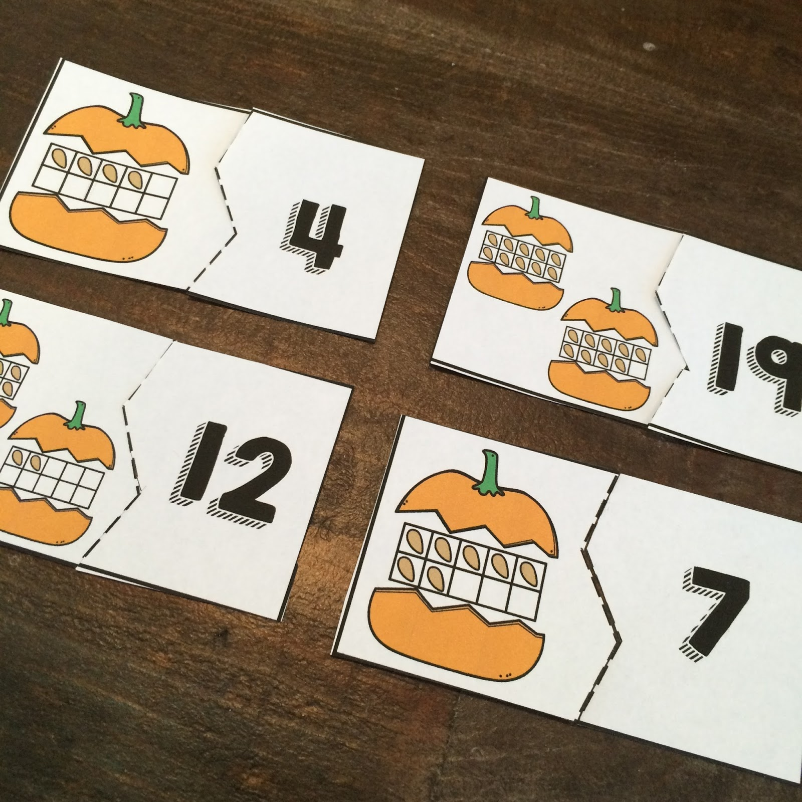 Free Pumpkin Number Match Center