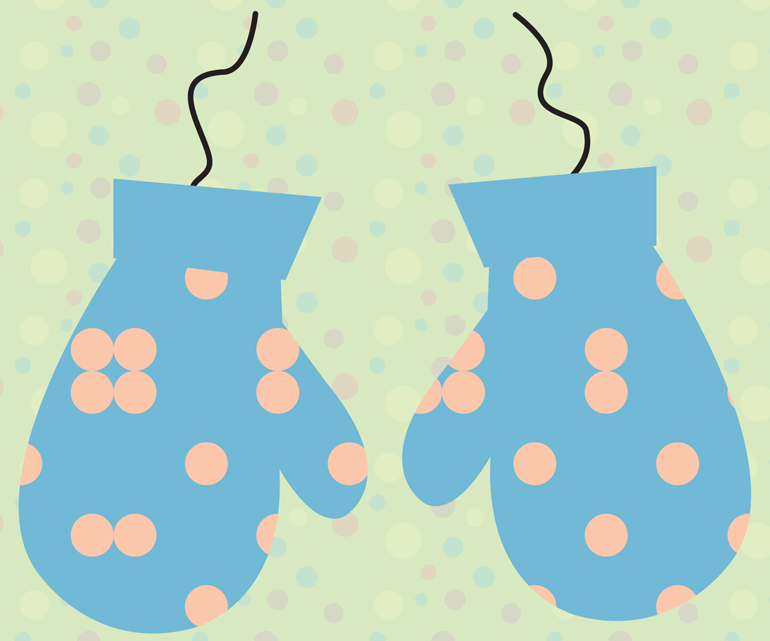 christmas mittens wallpaper mobile tablet
