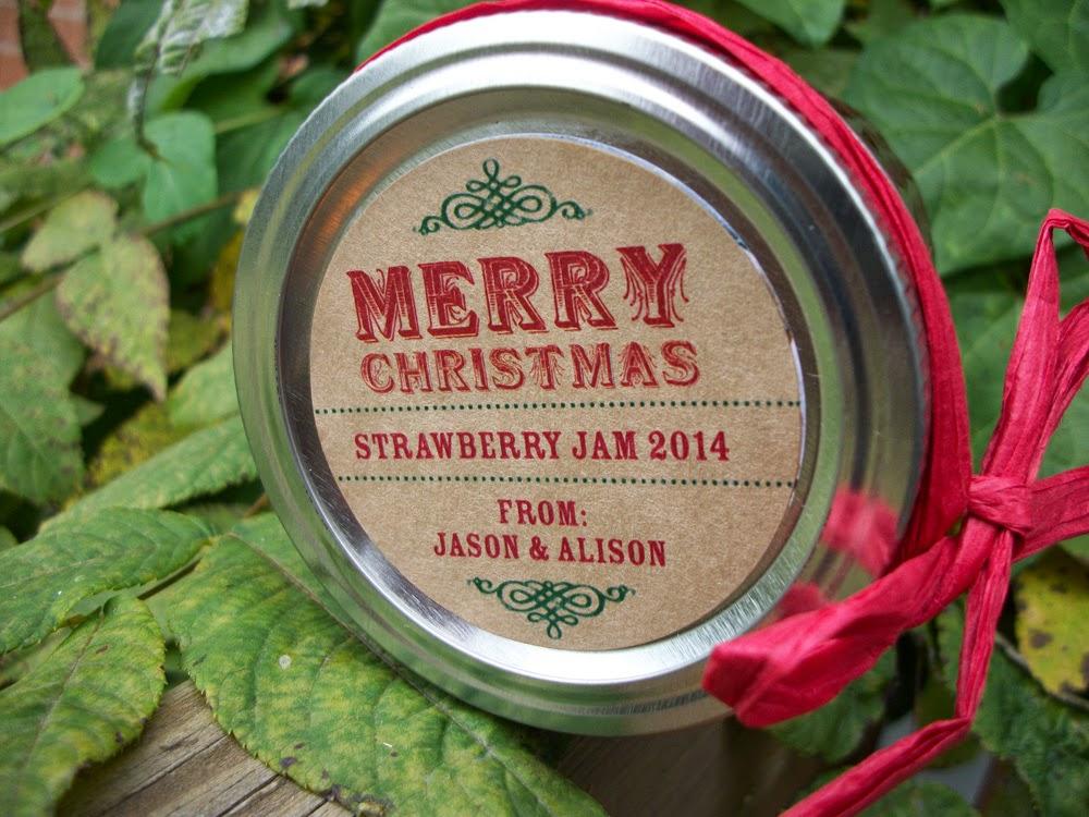 custom christmas canning labels