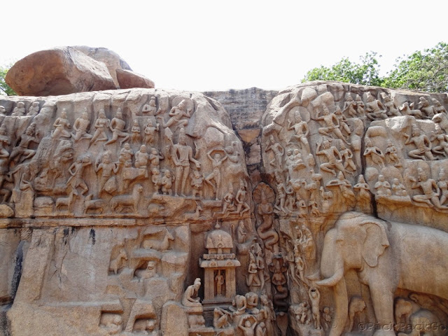 A grand scale stone sculpture (bas relief) of Mahabalipuram - TamilNadu