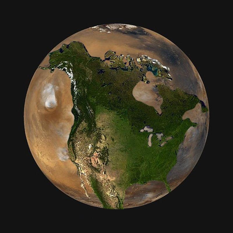 North America on Mars