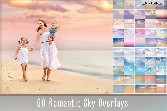 60 Romantic Sky: 60 lớp phủ bầu trời lãng mạn – 300 DPI – 5700 x 4900 pixel