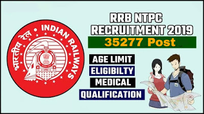 Railway RRB NTPC 35277 Post Online Form