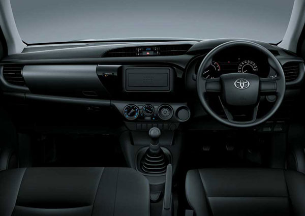 interior all new toyota hilux single cabin