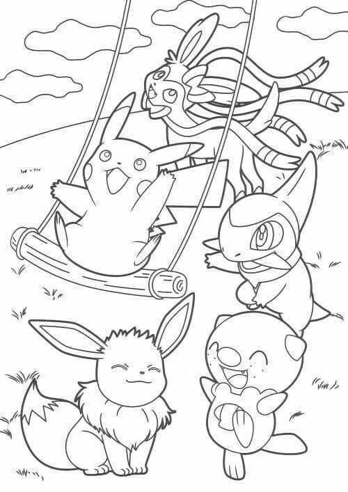 Tranh tô màu Pokemon 68