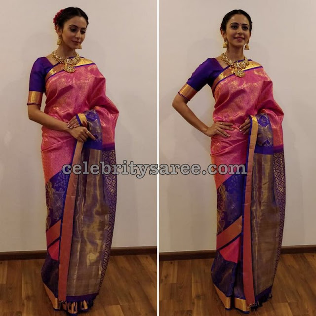 Rakul Preet in South India Shopping Mall Saree