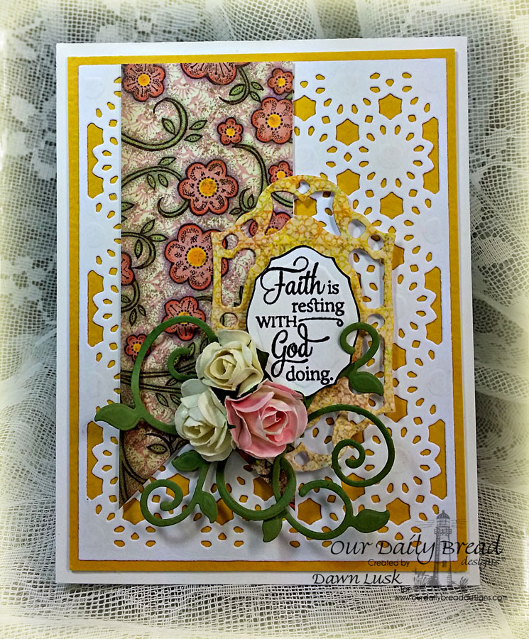 Stamps - Our Daily Bread Designs Quote Collection 4, ODBD Custom Fancy Foliage Die, ODBD Custom Daisy Chain Background Die, ODBD Blooming Garden Paper Collection