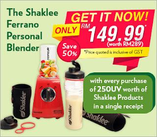 Blender murah; blender smoothies; personal blender; Shaklee ESP blender; Shaklee Labuan; Shaklee Malaysia; Shaklee Lahad Datu; Shaklee Sipitang; Shaklee Kudat; Shaklee Kota Kinabalu; Shaklee Beaufort