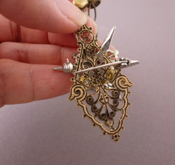 The Combined Focal Was Ornate So I Added Only Antique Br Chain Bead Caps Went On A Clear Crystal Which Then As Dangle At