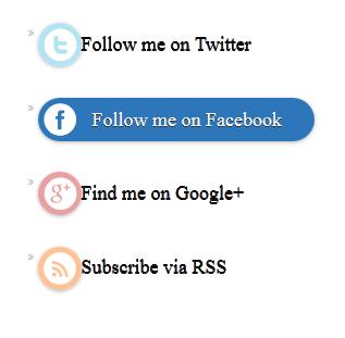Cara Membuat Widget Sosial Button Follow Keren di Sidebar