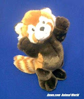 standing red panda plush stuffed animal toy