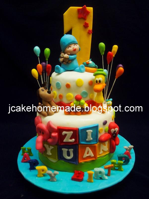 Jcakehomemade Pocoyo And Friends Birthday Cakep