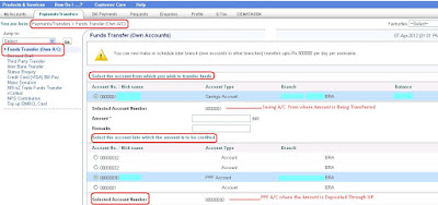 Setting SIP Amount To OnlineSBI PPF Account