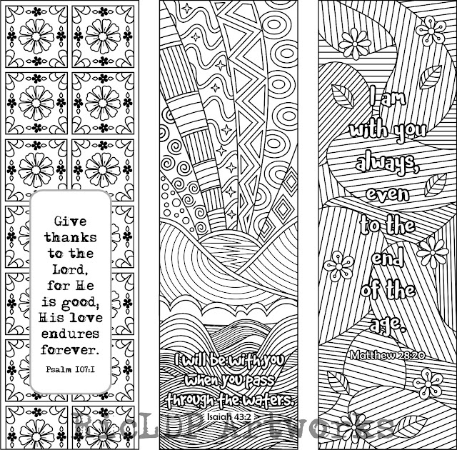 Bible Verses Coloring Bookmarks 2