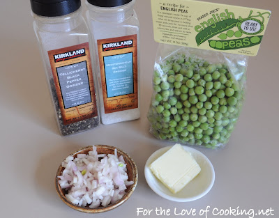 Peas with Butter and Shallots