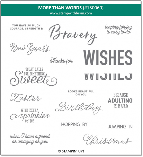 More Than Words Stamp Set Stampin Up!