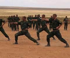 من تدريبات الدرك الوطني الجزائري