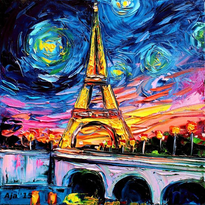 10-The-Eiffel-Tower-Aja-Trier-Vincent-Van-Gogh-Paintings-and-a-Sprinkle-of-Pop-Culture-www-designstack-co