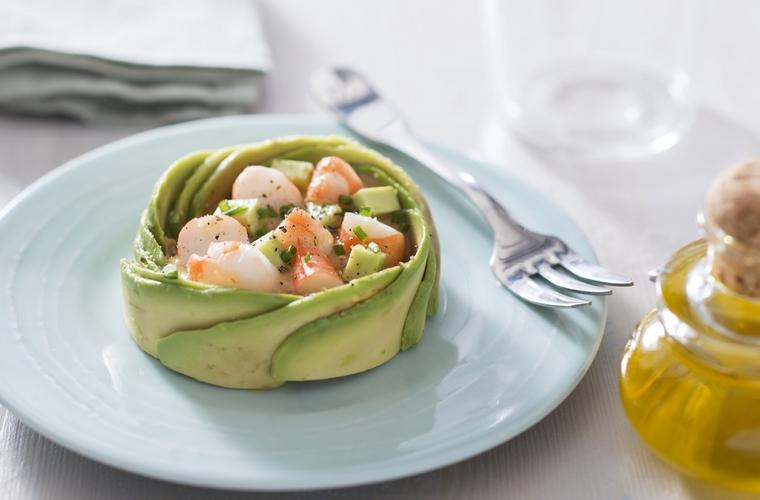 La Cocina Francesa Recetas Y Noticas De La Gastronomia De Francia Ensalada De Aguacate Y Gambas Salade Avocat Et Crevettes