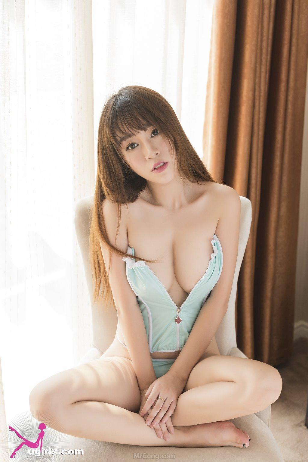 Image MrCong.com-UGIRLS-039-Wang-Yu-Chun-009 in post Ngắm người đẹp Wang Yu Chun (王雨纯) thả dáng sexy trong bộ ảnh UGIRLS 039