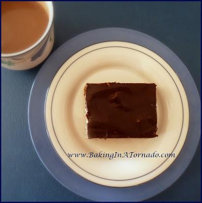 Frosted Mocha Cookie Bars | www.BakingInATornado.com | #recipe #bake