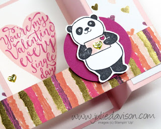 Stampin' Up! Sure Do Love You + Party Pandas Valentine Bridge Card + Video Tutorial ~ 2018 Occasions Catalog ~ www.juliedavison.com