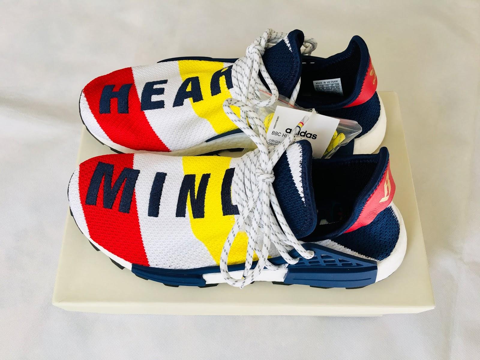 947dbf90a9377 Adidas x Pharrell Williams x Billionaire Boys Club HU NMD Sneakers BB9544