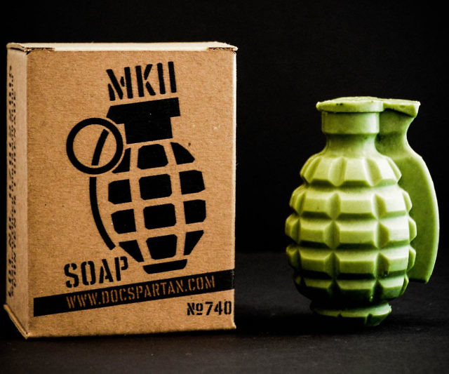 Set off an explosion of freshness during your next shower by washing yourself with this grenade soap. This life size 6 ounce soap is made with nurturing ingredients like shea butter and coconut oil and features a delightfully crisp scent reminiscent of fresh morning dew.