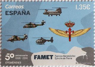 50 ANIVERSARIO FUERZAS AEROMÓVILES EJÉRCITO DE TIERRA (FAMET)