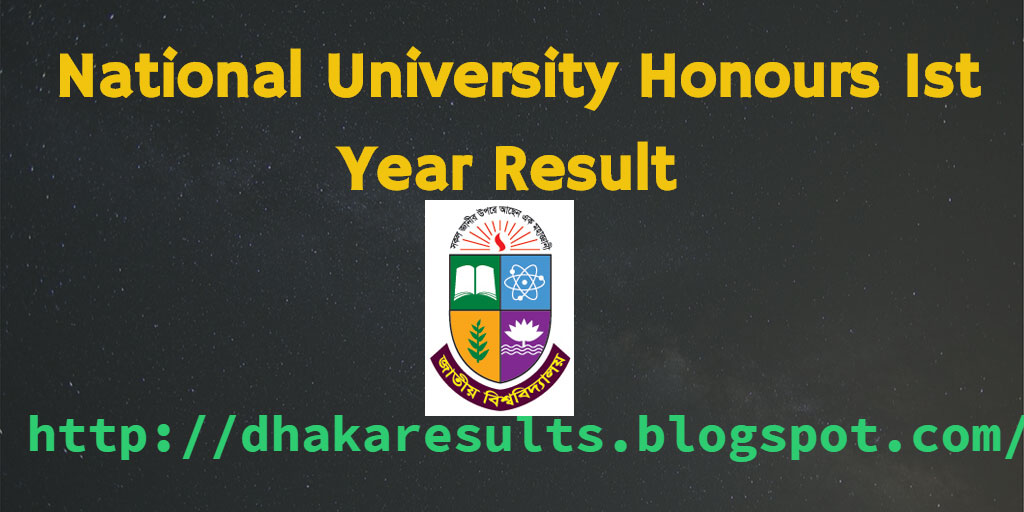 National University Honours 1st Year Result 2016