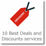 10 Best Deals and Discounts services
