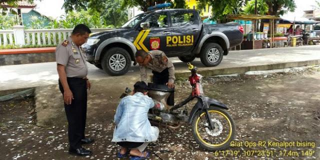 Polisi Karawang :Motor Berknalpot Bising DItertibkan dan Kendaraan Bodong di Kandangin