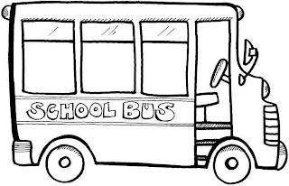School Bus Driver Coloring Page