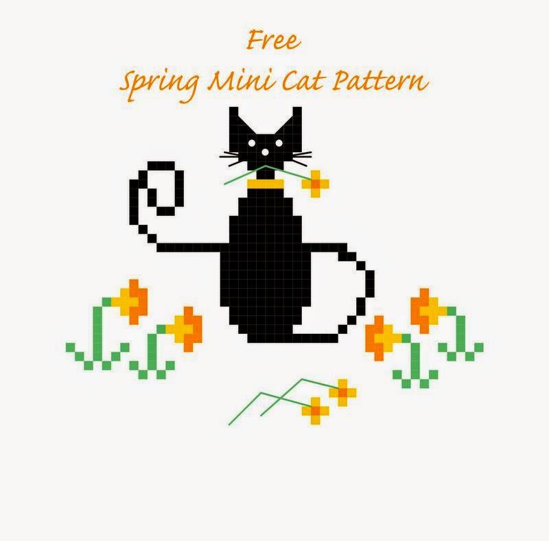 Happiness Is Cross Stitching Mini Cat Cross Stitch Freebies