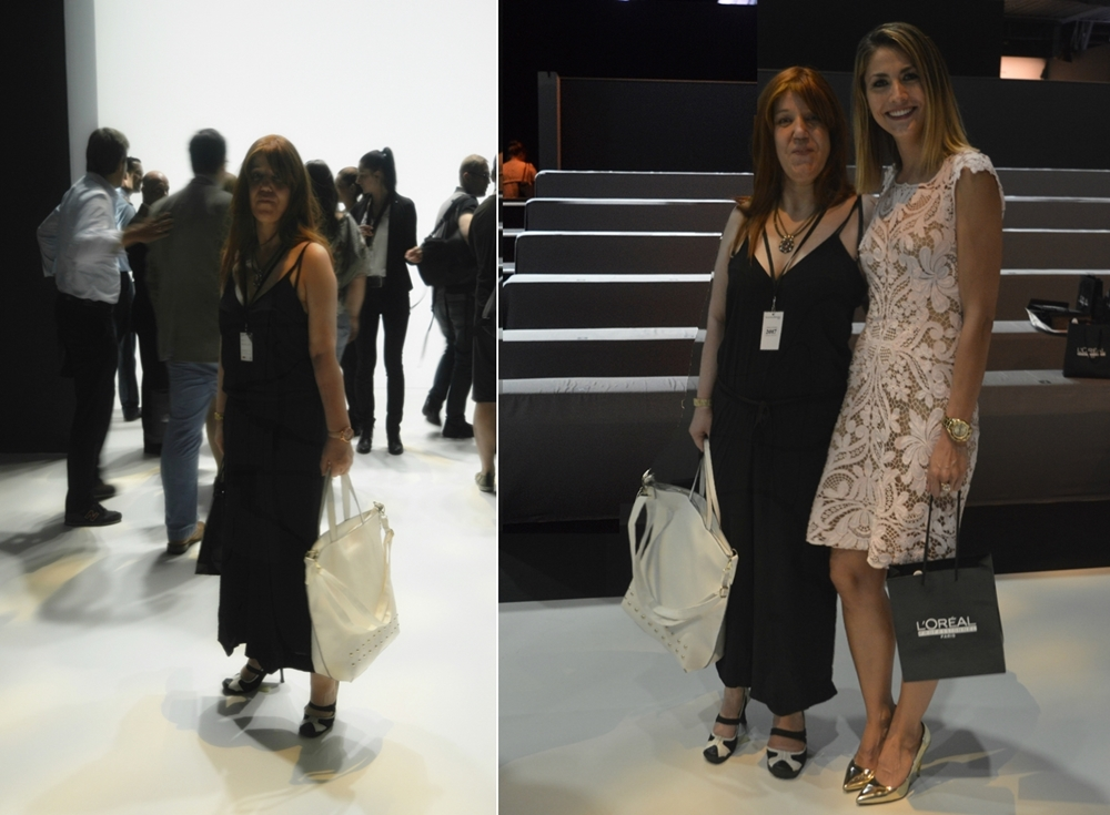 #MBFW Outfit -  Look on the Irene Luft Show SS2017 It's all about black & white. - Fashion bloggerin Annie K, founder CEO and writer of ANNIES BEAUTY HOUSE
