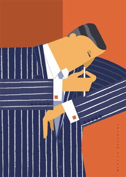 Ilustración minimalista de Ronald Slabbers