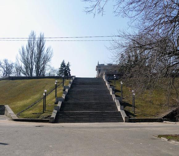 Николаев. Флотский бульвар. Лестничный спуск к Ингулу