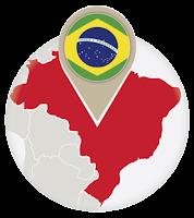 Brazilian flag and map