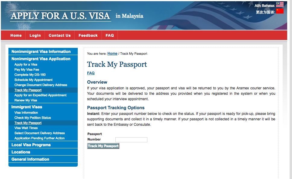 Mayheart: USA Travel VISA (B2) for Expat work in Malaysia