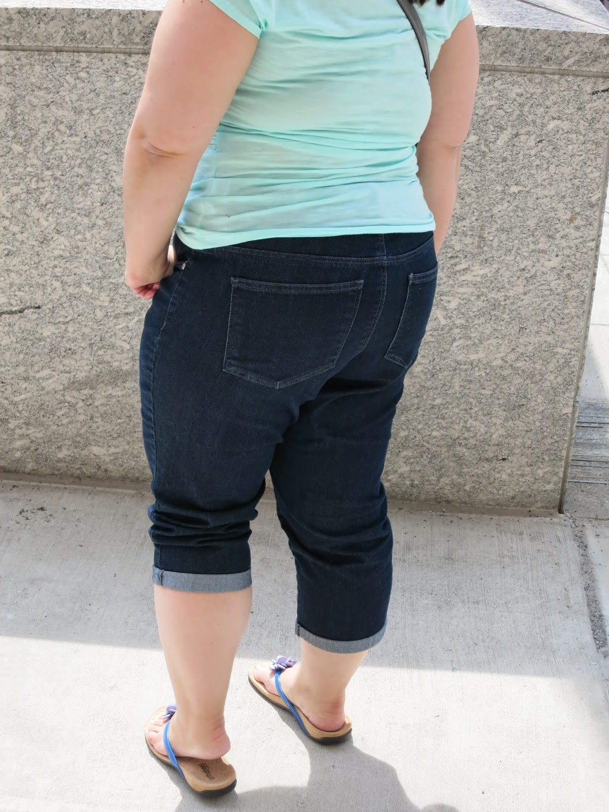 b420fed1 I was able to wear The Natural Fit Style Up Kennedy Pull On Capri shopping,  and I have to say they were so very comfortable, they felt like I was  wearing a ...